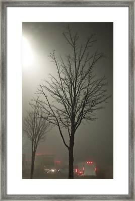On A Foggy Night Framed Print by Pete Trenholm