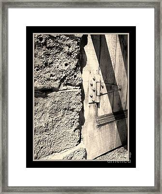 On A Hinge Framed Print by Glenn McCarthy Art and Photography