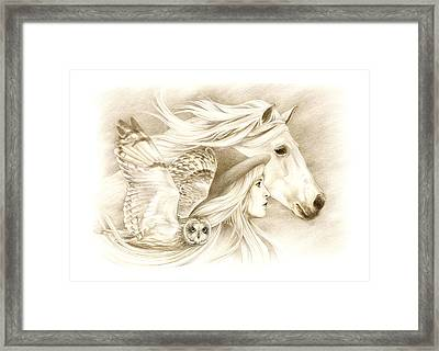 On A Journey... Framed Print