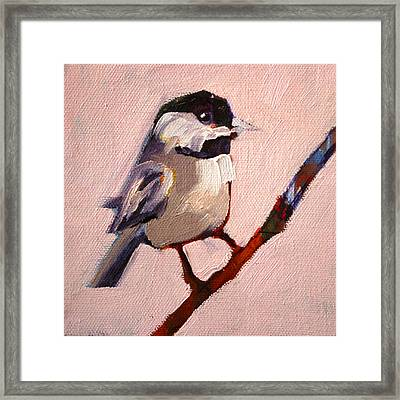 On A Limb Framed Print by Nancy Merkle