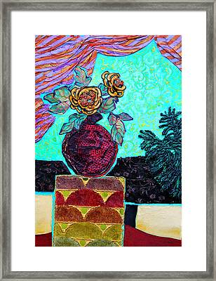 On A Pedestal Framed Print by Diane Fine