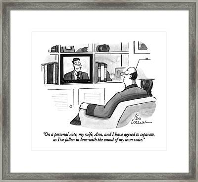 On A Personal Note Framed Print by Leo Cullum