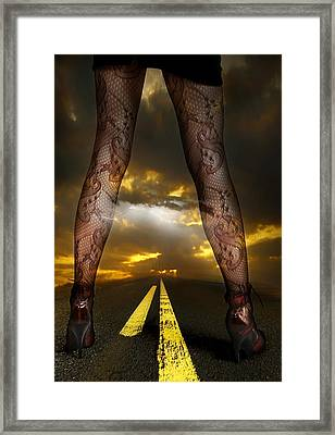 On A Road Framed Print by Svetlana Sewell