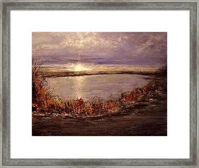 Framed Print featuring the painting On A Slice Of Heaven... by Cristina Mihailescu