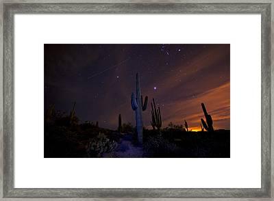 On A Starlit Night  Framed Print by Saija  Lehtonen