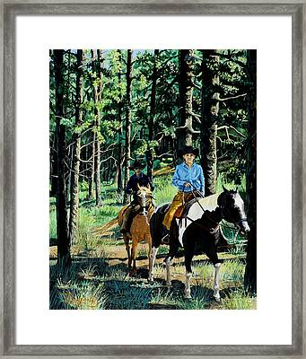 On A Summer Morning Framed Print by Timithy L Gordon