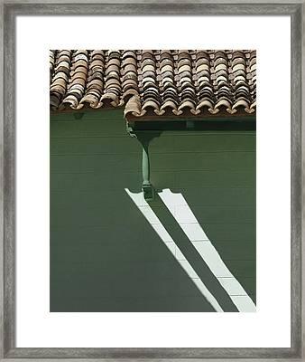 On A Sunday Morning Sidewalk.. Framed Print by A Rey