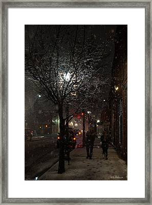 On A Walk In The Snow - Grants Pass Framed Print by Mick Anderson