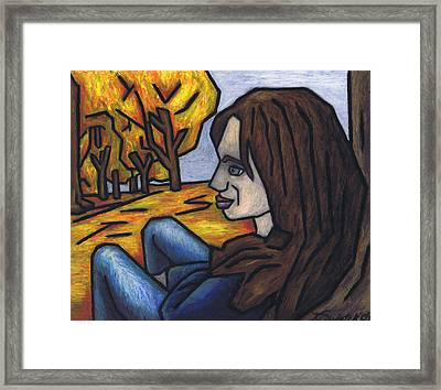 On A Warm Autumn Day Framed Print