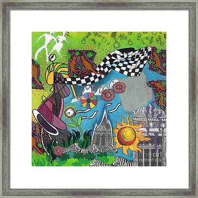 On A Warm Summer Night Down Under Framed Print