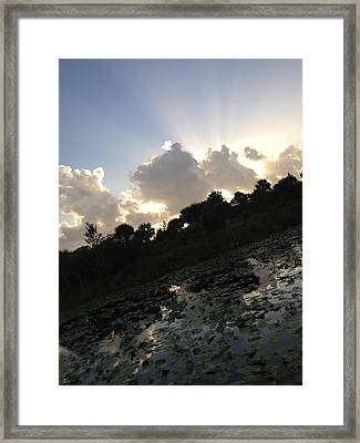 On An Angle Framed Print by K Simmons Luna
