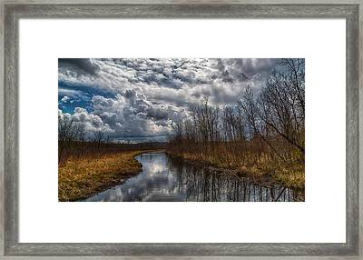 On And On It Goes Framed Print