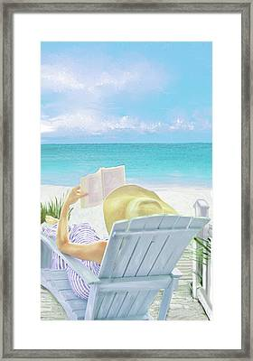 On Beach Time Framed Print