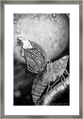 Framed Print featuring the digital art On Becoming by Carol Jacobs