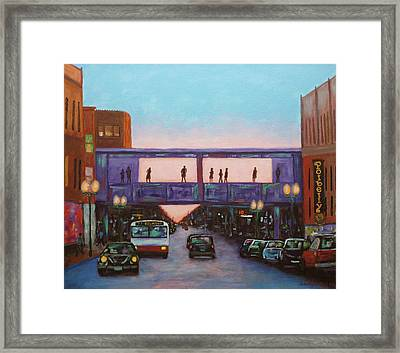 On Belmont Framed Print by J Loren Reedy