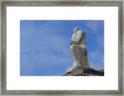 Framed Print featuring the photograph On Bended Knee - Color by Nadalyn Larsen