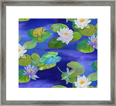 On Big Fresh Pond Framed Print by Kimberly McSparran