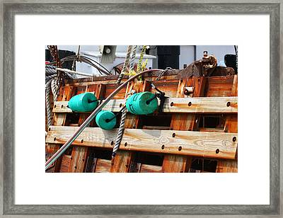 On Board Framed Print by Paula Rountree Bischoff