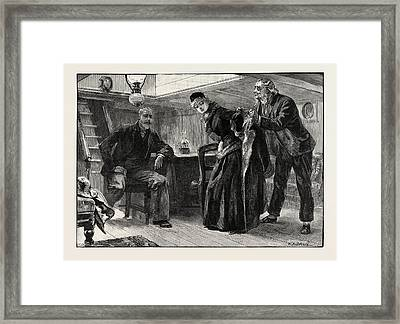 On Board The Light Of The World Framed Print by Overend, William Heysham (1851-1898), British