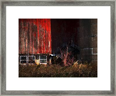 On Casey Lake Rd. Framed Print by David Blank