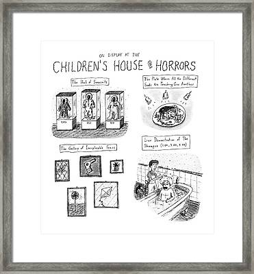 On Display At The Children's House Of Horror: Framed Print by Roz Chas