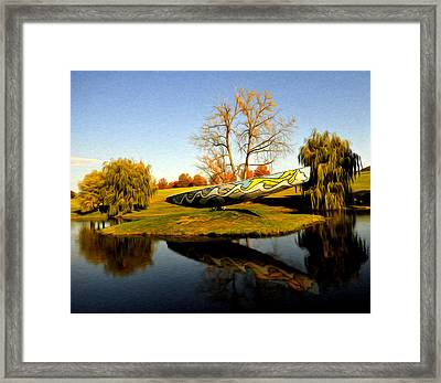 On Dry Land Framed Print by Terry Cosgrave