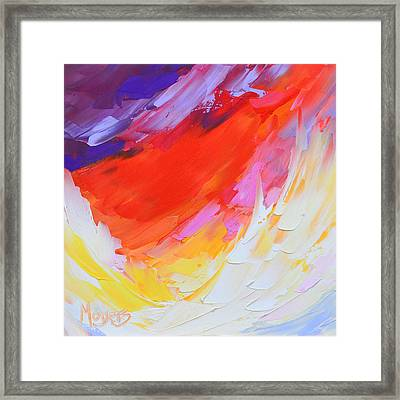On Eagle's Wings Framed Print by Mike Moyers