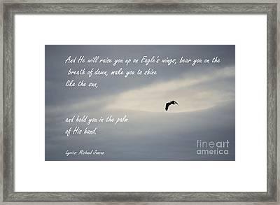 On Eagle's Wings Framed Print