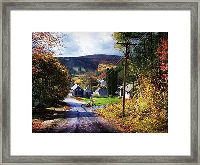 On Elm Street Looking Towards Spruce Mountain Framed Print