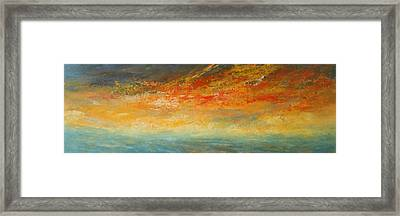 On Fire Framed Print by Jane See