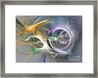On Fire - Surrealism Framed Print