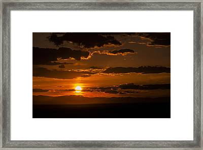 On Fire Framed Print by The Forests Edge Photography - Diane Sandoval