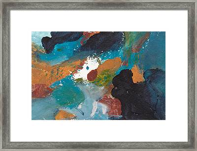 On Friendly Terms Abstract Framed Print by Maura Satchell