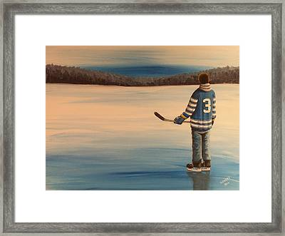 On Frozen Pond -  Winter Classic 2014 Framed Print