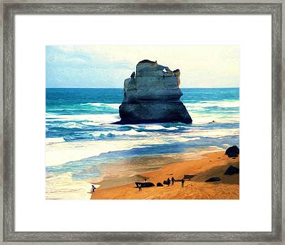 On Gibson Beach Framed Print
