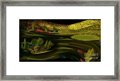 On Golden Pond Framed Print by Sherri's Of Palm Springs