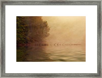On Golden Pond Framed Print by Tom Mc Nemar