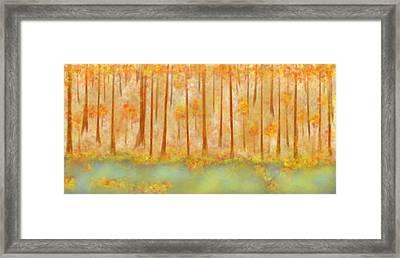 On Golden Pond Framed Print by Treesha Duncan