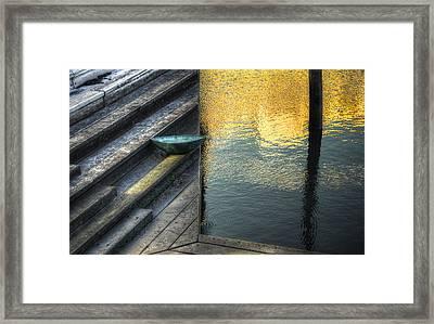 On Golden Pond Framed Print by Wayne Sherriff