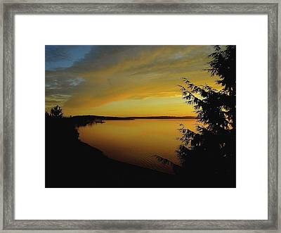 On Golden Puget Sound Framed Print