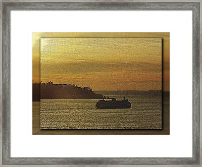 On Golden Sound Framed Print