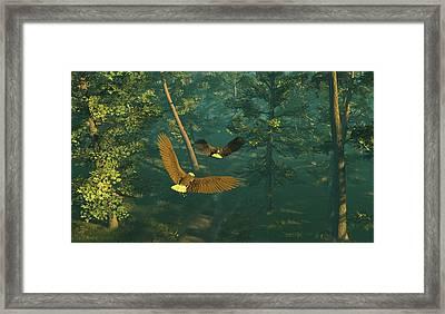 On Graceful Wings Part I Framed Print by Dieter Carlton
