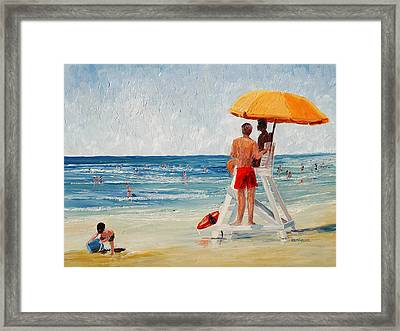On Guard Framed Print by Keith Wilkie