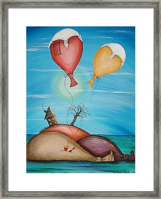 On Holiday Framed Print
