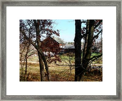 Framed Print featuring the digital art On Hwy. 49 North Of Waupaca by David Blank