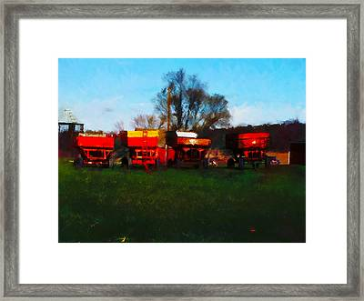 On Hwy 49 North Of Waupaca Wisconsin  Framed Print by David Blank