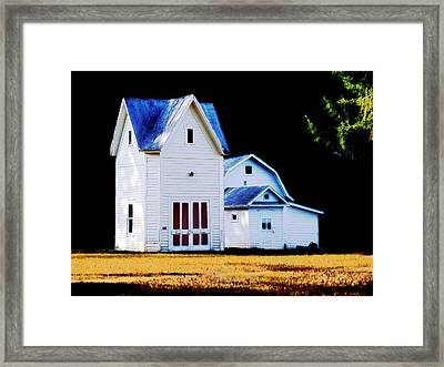 Framed Print featuring the digital art On Hwy B In Ogdensburg Wisconsin by David Blank