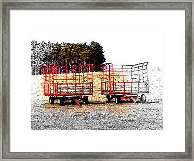 Framed Print featuring the digital art On Hwy B West Of Ogdensburg by David Blank