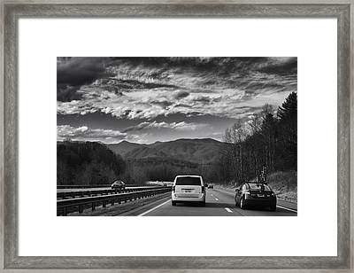 On Interstate 40 West Framed Print