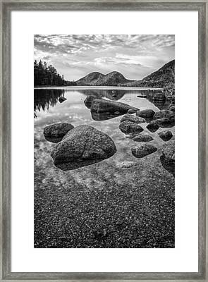 On Jordan Pond Framed Print